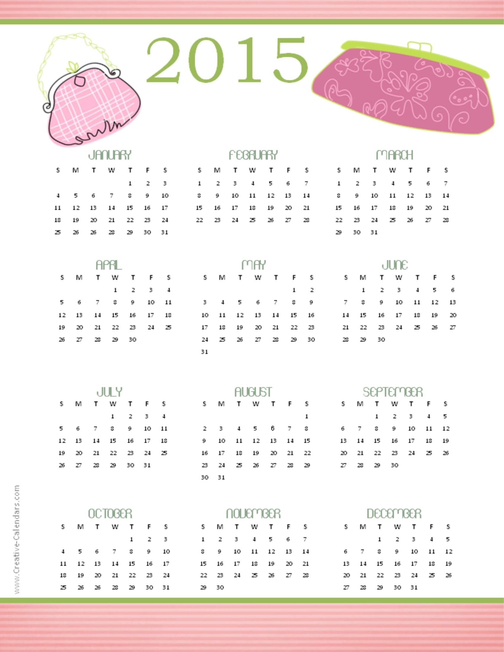 sample yearly calendar