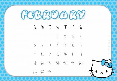 February monthly planner