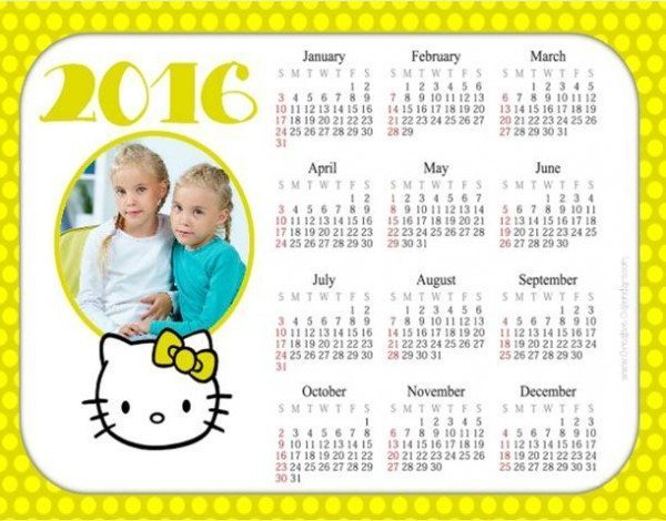 Hello Kitty Photo Calendars