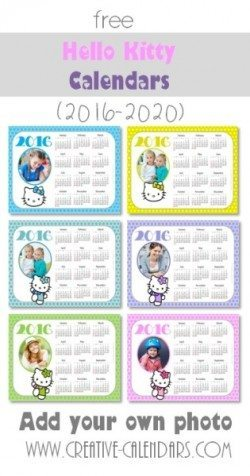 photo calendar 2017 with Hello Kitty