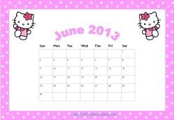 Hello Kitty Calendar
