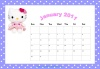 Hello Kitty Printable Calendar
