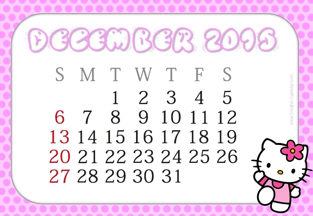 1040 x 720 jpeg 271kB, Free Hello Kitty Printable Calendar 2015/page/2 ...