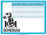 101 Dalmations Weekly Calendar
