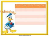 Donald Duck Weekly Calendar