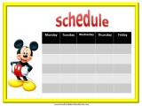 Mickey Mouse Weekly Calendar