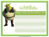 Shrek Weekly Calendar