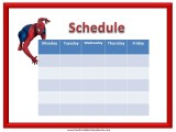 Spiderman Weekly Calendar