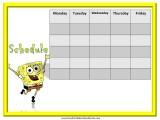 SpongeBob Weekly Calendar