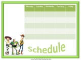 Toy Story weekly calendars