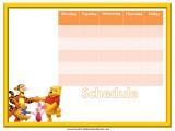 Winnie the Pooh Weekly Calendar