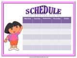 Dora Weekly Calendar