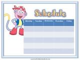 Boots Weekly Calendar