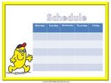 Mr Brave Weekly Calendar