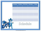 Transformers Weekly Calendar