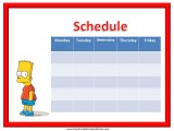 Bart Simpson Weekly Calendar