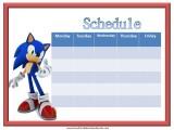 Sonic Weekly Calendar