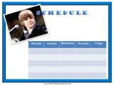Justin Bieber Weekly Calendar