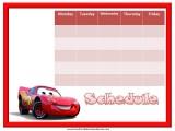 Cars Weekly Calendar