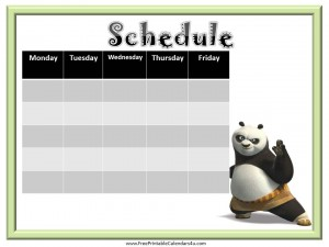 weekly calendar template