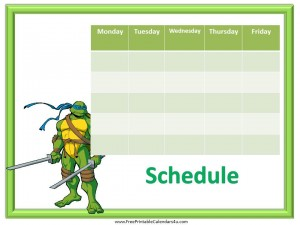 free printable weekly calendar for kids