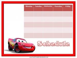 blank weekly schedule