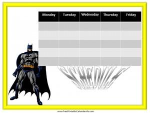 free weekly calendar template