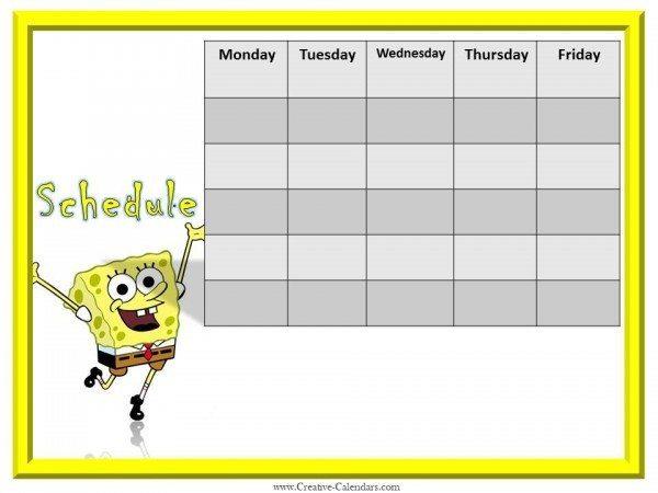 Free printable weekly calendars