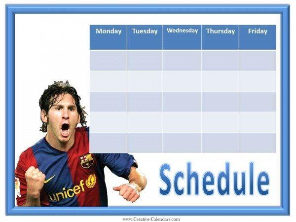 weekly calendar templates