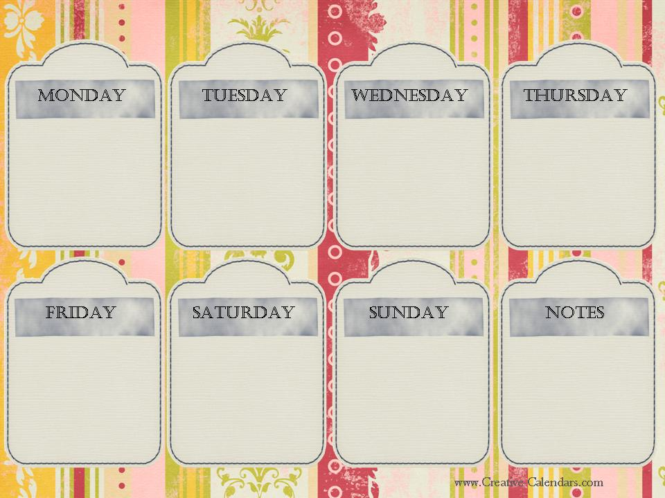 """... for """"Free Printable Weekly Calendars/page/2"""" – Calendar 2015"""