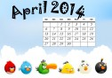 Printable Calendar for the month of April 2014