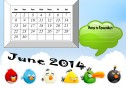 "June 2014 printable calendar with a section for ""dates to remember"""