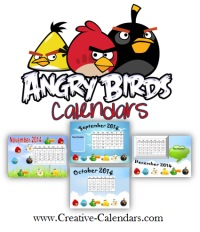 Angry Birds Calendar Templates