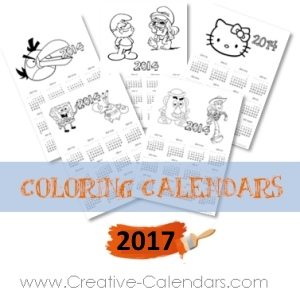 calendars with pictures to color