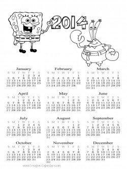 Spongebob Calendar