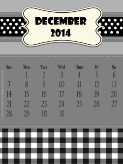black and white printable 2014 calendar