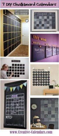 Creative Chalkboard Calendars