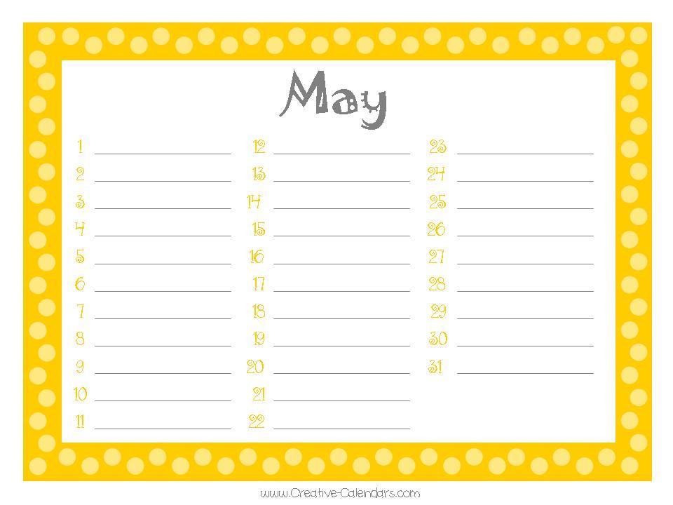 Birthday Calendars