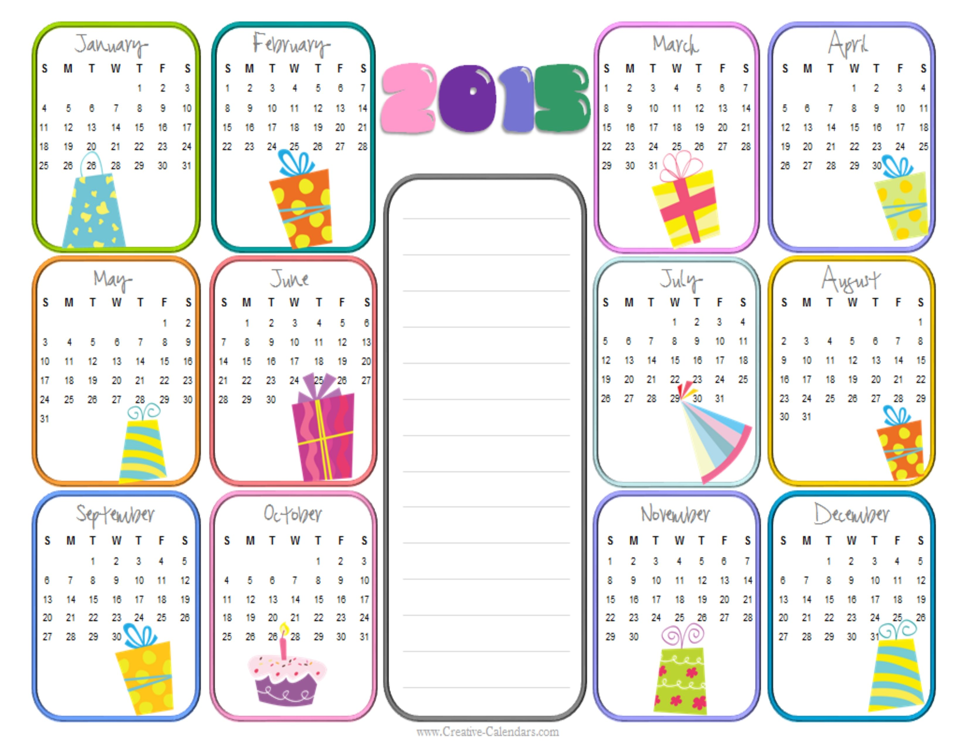This free printable birthday calendar template will ensure that you ...