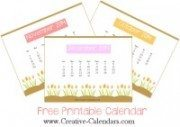 2014 printable calendar with pictures of flowers