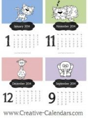Printable 2014 calendar with cute pictures