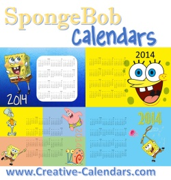 Spongebob printable calendars