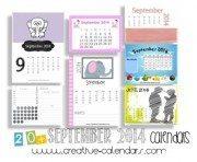 september 2014 calendars