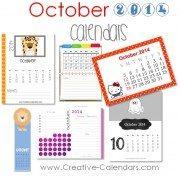 october 2014 calendars