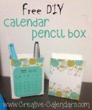 DIY desktop calendar and pencil box