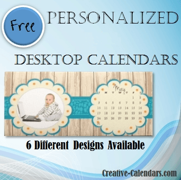 DIY Desktop Calendar with Photo