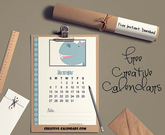 Cute Calendar With Animals | Customize Online And Print At Home