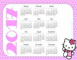 Hello Kitty Printable Calendar