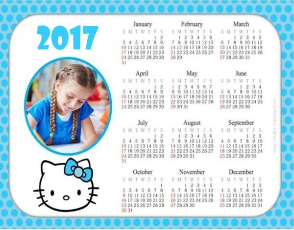 yearly calendar with space to add your photo