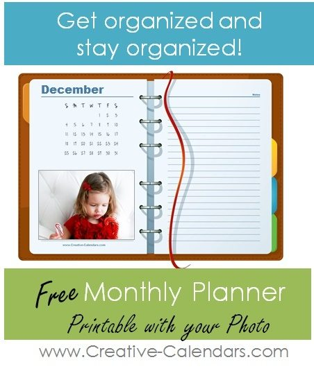 monthly planner with photo add your own photo with the online calendar maker